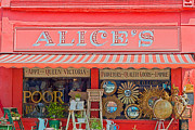Shop Front Prints - Alices Antiques Print by Georgia Fowler