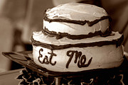 Platter Prints - Alices Eat Me Cake  Print by Trish Mistric
