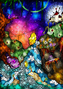 Moons Digital Art - Alices Wonderland by Mandie Manzano