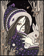 Folk  Drawings - Alida by Anita Inverarity