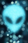 Et; Martian Digital Art - Alien Bokeh by NicoWriter