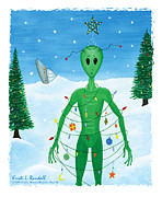Humiliated Framed Prints - Alien Christmas Out of this World Framed Print by Kristi L Randall