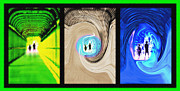 Paranormal  Mixed Media - Alien Encounters Triptych by Steve Ohlsen