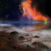 Nebulas Prints - Alien Ocean Print by Bill  Wakeley