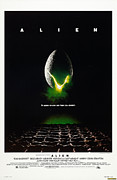Vintage Posters Art - Alien Poster by Sanely Great