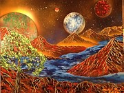 Outer Space Painting Originals - Alien Worlds by Michael Rucker