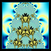 Cake Designs Acrylic Prints - Aliens Wedding Cake Fractal 67 Acrylic Print by Rose Santuci-Sofranko