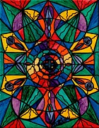 Spiritual Painting Metal Prints - Alignment Metal Print by Teal Eye  Print Store