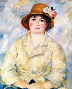 Sitting  Digital Art Posters - Aline Poster by Pierre Auguste Renoir