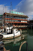 California Prints Prints - Aliotos Fishermans Wharf Print by Kathy Yates