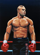 Basket Ball Painting Metal Prints - Alistair Overeem Metal Print by Paul  Meijering