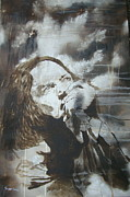 Eddie Vedder Paintings - Alive by Stuart Engel