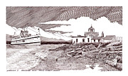 Passenger Ferry Prints - Alki Point Seattle Virgina V Print by Jack Pumphrey