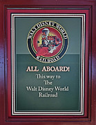 All Aboard Sign Print by Thomas Woolworth