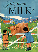 Vintage Painter Photo Posters - All About Milk Poster by The  Vault