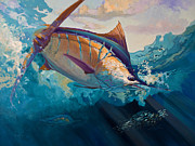 Flyfishing Painting Originals - All Ahead Flank by Mike Savlen