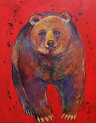 Brown Bear Art Framed Prints - All American Bear Framed Print by Carol Suzanne Niebuhr