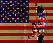 Bruce Springsteen Mixed Media Prints - All American  Print by Brian Buckley