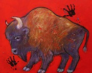 American Buffalo Framed Prints - All American Buffalo Framed Print by Carol Suzanne Niebuhr