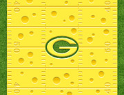 Packers Posters - All American Cheese Poster by Cristophers Dream Artistry