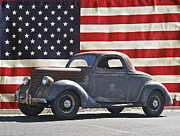 Family Car Framed Prints - All American Ford Framed Print by Dave Koontz