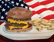 Fries Paintings - All American by Victoria Dietz