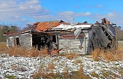 Abandoned Houses Digital Art Metal Prints - All But Gone Metal Print by Victor Montgomery