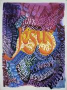 Sermon Painting Prints - All Come to Me Print by Barbara Beck-Azar