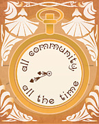 Commune Digital Art Framed Prints - All Community All the Time Framed Print by Catherine Black