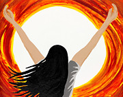 Jesus Painting Originals - All Consuming Fire by Ann Marie Noyman