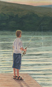 Fishing Creek Pastels Prints - All Day Long Print by Arlene Crafton