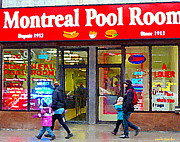 Montreal Pool Room Paintings - All Dressed Hot Dogs Montreal Pool Room Steamies Best Dogs In Town Urban Eatery Deli Scenes Cspandau by Carole Spandau