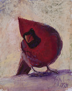Male Pastels Originals - All Dressed in Red by Billie Colson