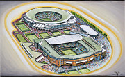 Wimbledon Painting Prints - All England Lawn Tennis Club Print by D J Rogers