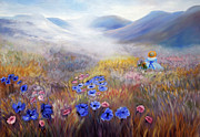 Impressionistic Oil Paintings - All In A Dream - Impressionism by Zeana Romanovna