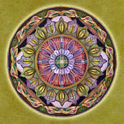 Affirmation Painting Posters - All is Well Mandala Poster by Jo Thomas Blaine