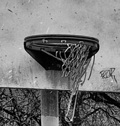 Hoops Digital Art Framed Prints - All Net Framed Print by Bill Cannon