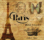 Paris Digital Art Framed Prints - All Paris All The Time Framed Print by Greg Sharpe