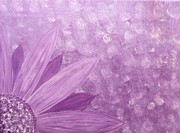 Jessie Art Prints - All Purple flower Print by Jessie Art