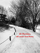 Christmas Greeting Cards Photo Framed Prints - All roads lead home Framed Print by David Bearden