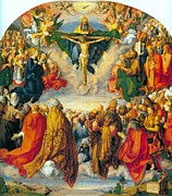 Religious Art Painting Prints - All Saints 1511 Print by Albrecht Durer