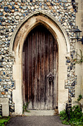 Newmarket Posters - All Saints Church Door Poster by Karen Zucal Varnas