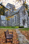 Autumn Scenes Posters - All Saints Church - Peterborough NH Poster by Joann Vitali