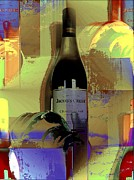 Wine Bottle Mixed Media Framed Prints - All Seasons Framed Print by Martin Jay