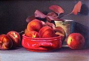 Peaches Painting Prints - All shades of Red Print by Dan Petrov