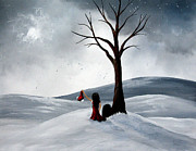 Winter Landscape Paintings - All She Wants For Christmas by Shawna Erback by Shawna Erback
