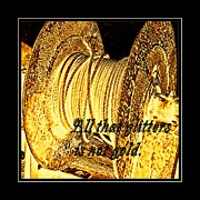 Valuable Digital Art Prints - All that Glitters is not Gold Print by Barbara Griffin
