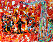 Pallet Knife Painting Prints - All That Jazz  Print by Mark Moore