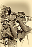 Trombone Art - All That Jazz sepia by Steve Harrington
