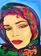 Hijab Metal Prints - All the Better to Eat You With Metal Print by Jill Jacobs